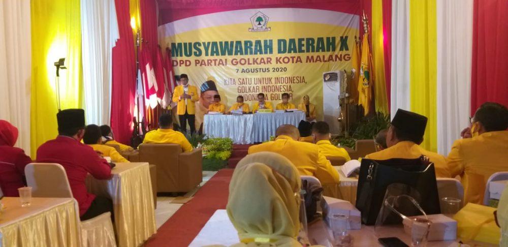 Sofyan Edi Jarwoko Kembali Terpilih Pimpin Golkar Kota Malang