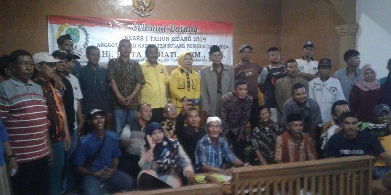Reses Perdana, Elita Budiati Serap Aspirasi Warga Desa Cimenteng