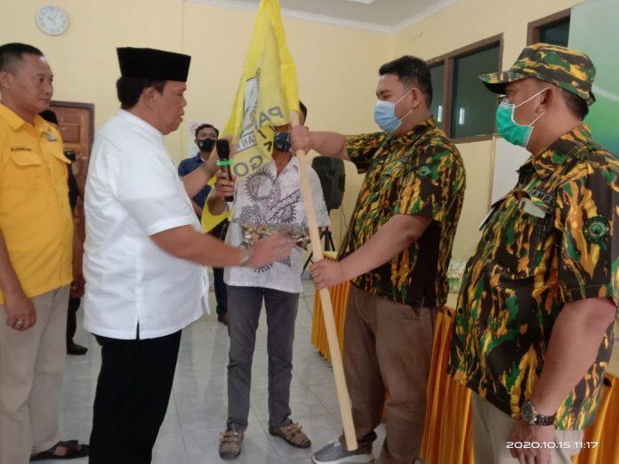 Azwar Hadi Lantik Kepengurusan AMPG Lampung Timur, Ini Komitmen Muhammad Kaisario