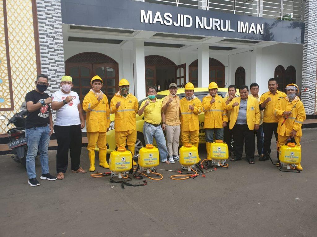Diinisiasi Airin Rachmi Diany, Golkar Tangsel Bakal Semprot Disinfektan 54 Kelurahan di Tangsel