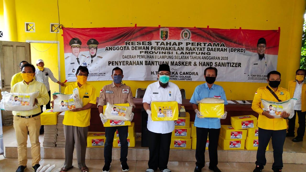 Tony Eka Candra Berikan 3 Ton Beras Untuk Jajaran PK Golkar se-Lampung Selatan