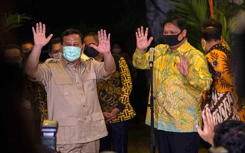 Airlangga Sambangi Prabowo di Kertanegara, Ini Persoalan Yang Dibahas