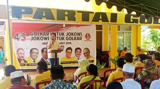 Hasanudin Mochdar Minta Golkar Halmahera Barat Raih 2 Kursi DPRD Per Dapil