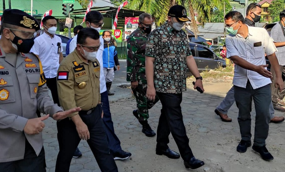 Bersama Gubernur Al Haris, Pinto Jayanegara Tinjau Eks RS Pertamina Bajubang Calon RS COVID-19 Jambi
