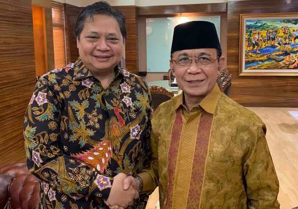 Musda Golkar NTB, Ahyar Abduh Lobi Ketum Airlangga Hartarto