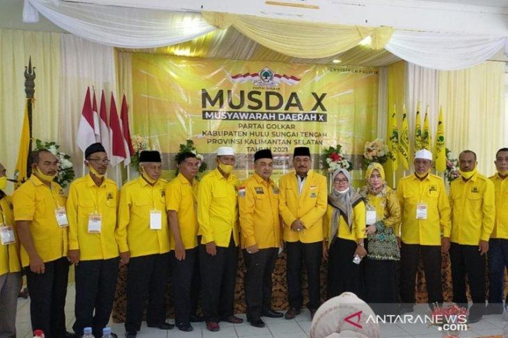 H Asoy Terpilih Aklamasi Pimpin Golkar Hulu Sungai Tengah