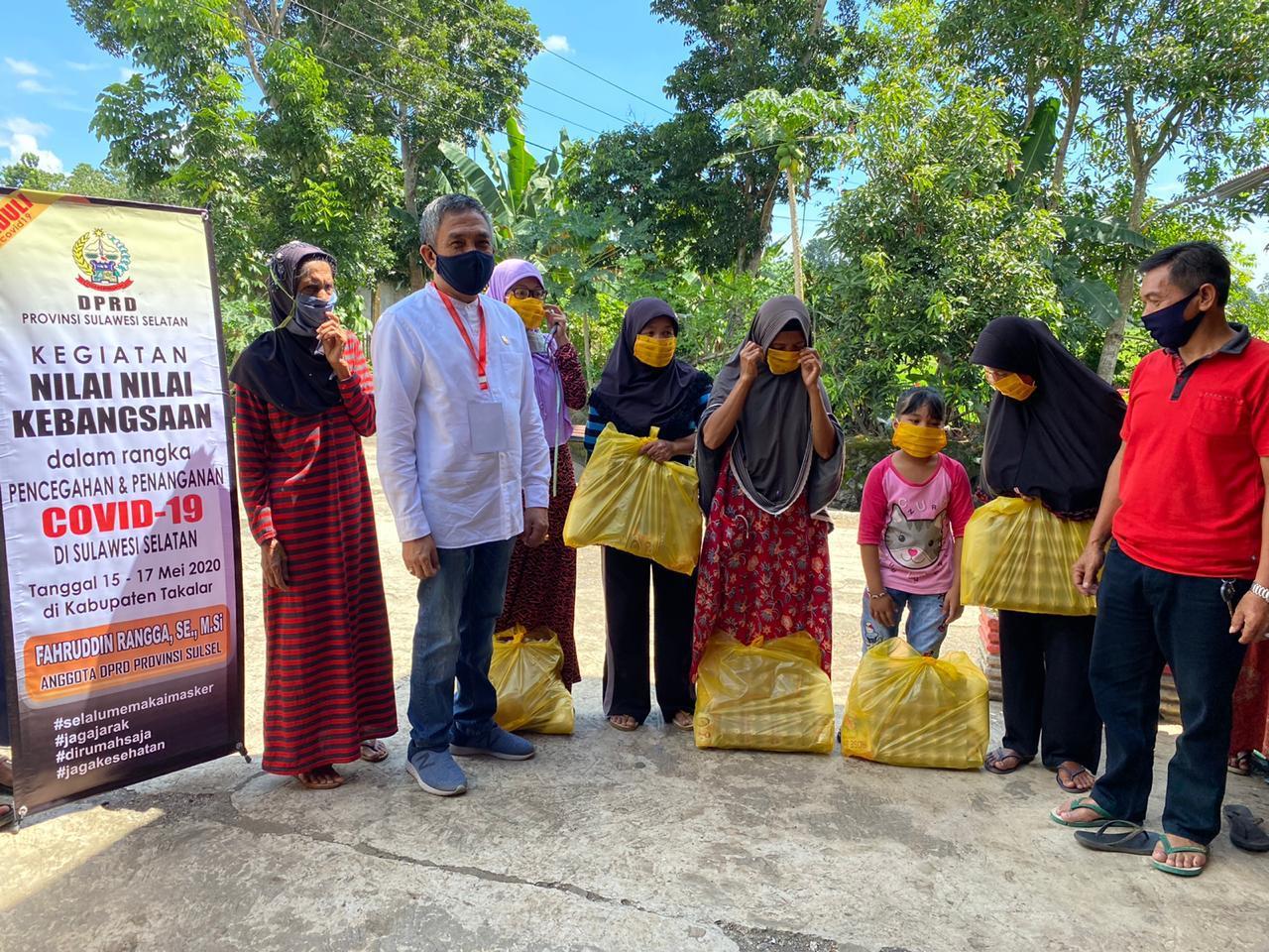 Fachruddin Rangga Salurkan Bantuan Untuk Warga Polut, Polsel dan Pattalassang