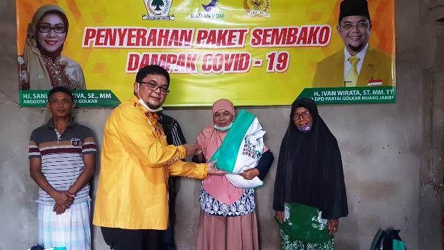 Sinergi Saniatul Latifah, Ivan Wirata dan Sartono Bagikan Sembako dan Serap Aspirasi di Muaro Jambi