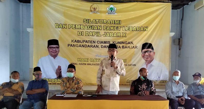 Agun Gunandjar Bagikan Bagikan Puluhan Ribu Paket Sembako di Ciamis, Banjar, Pangandaran, Kuningan