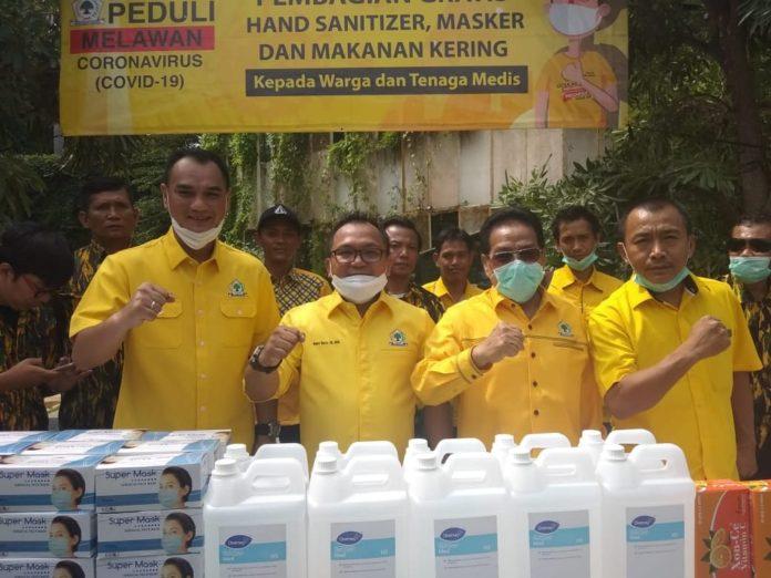 Fraksi Golkar DPRD DKI Jakarta Kirim Masker, Hand Sanitizer Hingga Vitamin ke RS Rujukan Corona