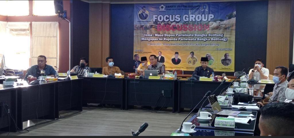 Bambang Patijaya Minta Raperda Pariwisata Harus Punya Otot Bangun Bangka Belitung Lebih Baik