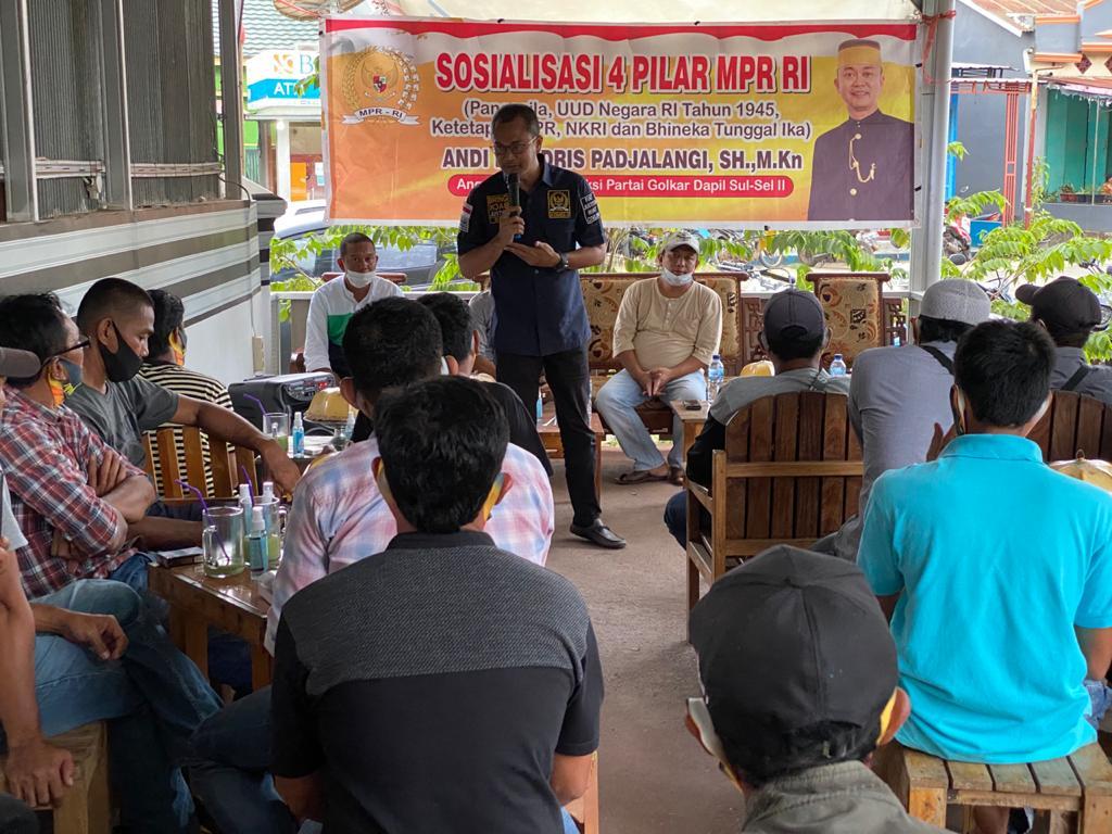 Sosialisasi 4 Pilar di Bone, Andi Rio Idris Padjalangi Ajak Warga Libureng Jaga Keutuhan NKRI