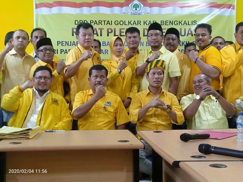 Pleno Golkar Bengkalis Putuskan Usung Indra Gunawan Eet Balon di Pilkada 2020