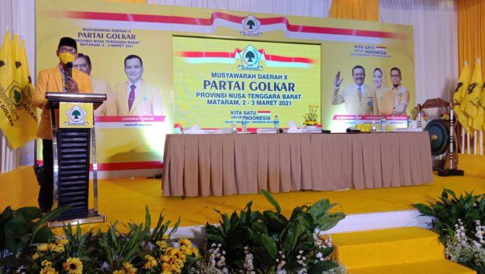 Mohan Roliskana Janjikan Suhaili FT dan Ahyar Abduh Posisi Strategis di Kepengurusan Golkar NTB