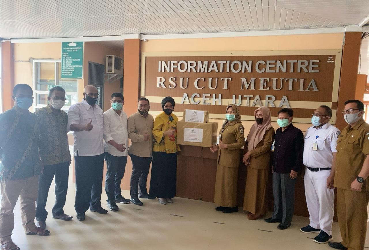 Golkar Lhokseumawe dan Aceh Utara Salurkan Bantuan APD Untuk RSUD Cut Meutia di Blang Mangat
