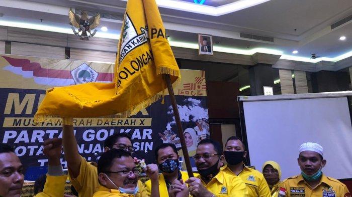 Yuni Abdi Nur Sulaiman Terpilih Aklamasi Gantikan Hj Ananda Pimpin Golkar Kota Banjarmasin