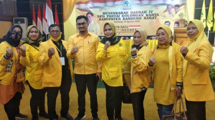 HUT Ke-56, Fery Pamawisa Siap Kembalikan Kejayaan Golkar di Bandung Barat