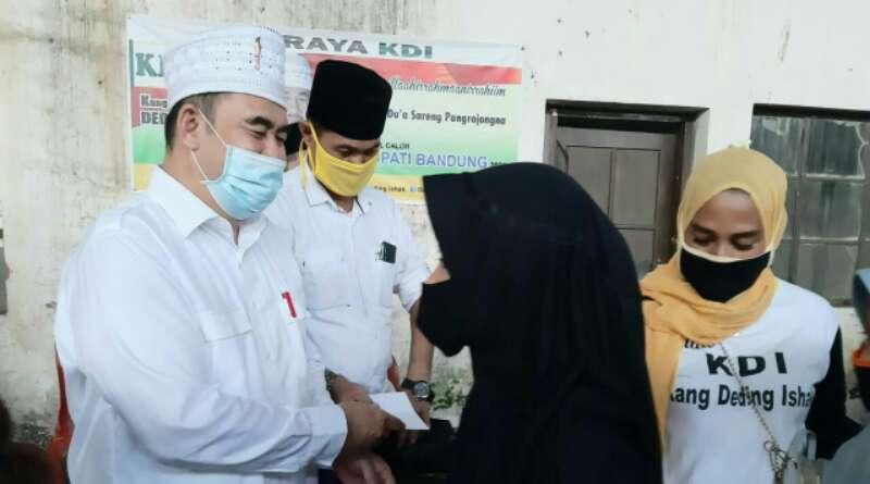 Akhiri Ramadhan, Deding Ishak Santuni 600 Anak Yatim Piatu di Majalaya, Ibun dan Paseh