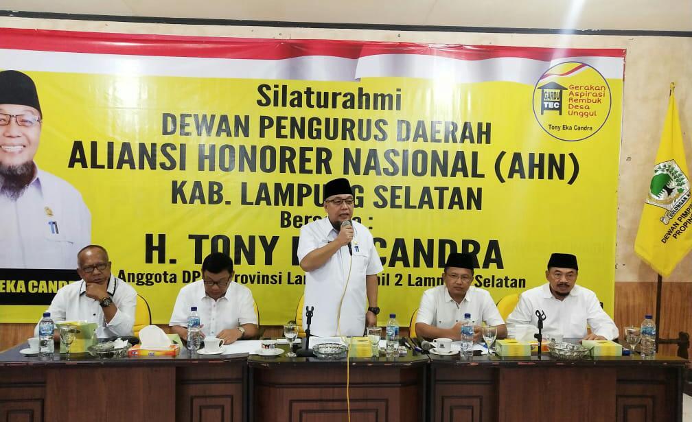 Aliansi Honorer Nasional Dukung Tony Eka Candra di Pilkada Lamsel 2020