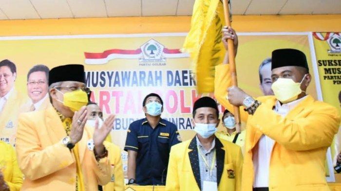 Terpilih Aklamasi, Usman Marham Ingin Golkar Kalahkan Dominasi Demokrat di Pinrang