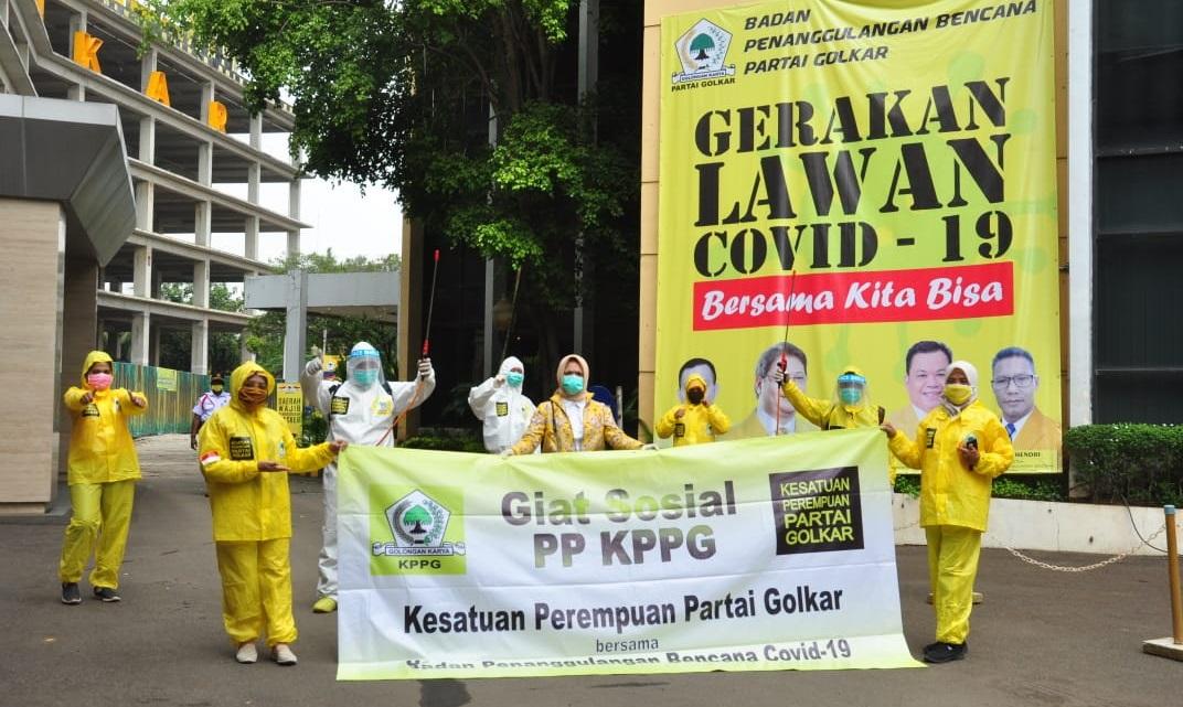 Lawan COVID-19, Lindsey Afsari Puteri Pimpin KPPG Semprot Disinfektan di 5 Wilayah DKI