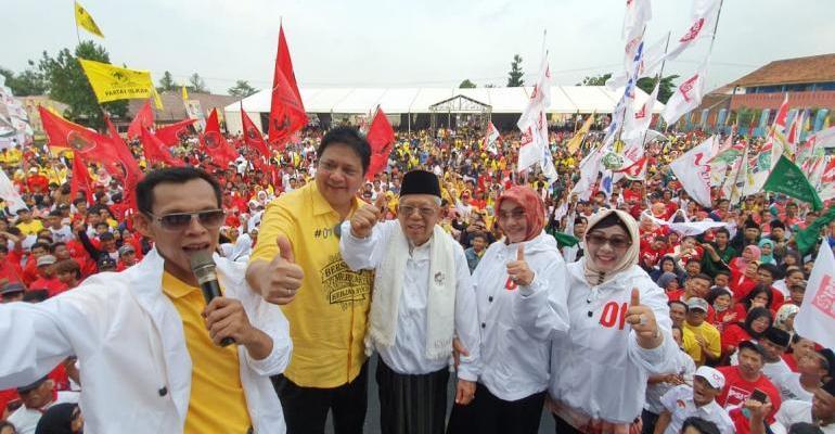 Kampanye di Bogor, Airlangga Hartarto Tegaskan Pilih Jokowi Harga Mati