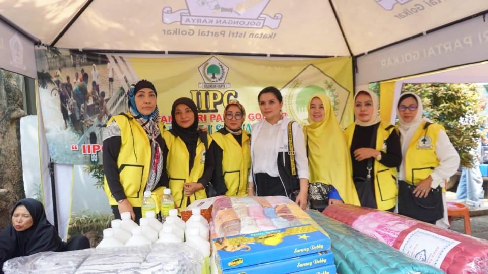 Yanti Airlangga Harap Bantuan IIPG Bermanfaat Bagi Korban Banjir di Bojong Kulur Bogor