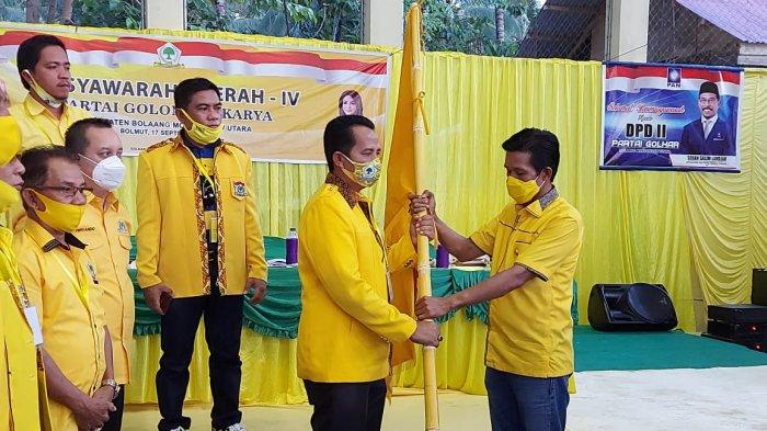 Saiful Ambarak Terpilih Jadi Ketua Golkar Bolmut
