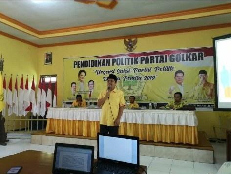 Zulfikar Arse Sadikin Minta Saksi Golkar Bondowoso Aktif Ikut Menggalang Suara