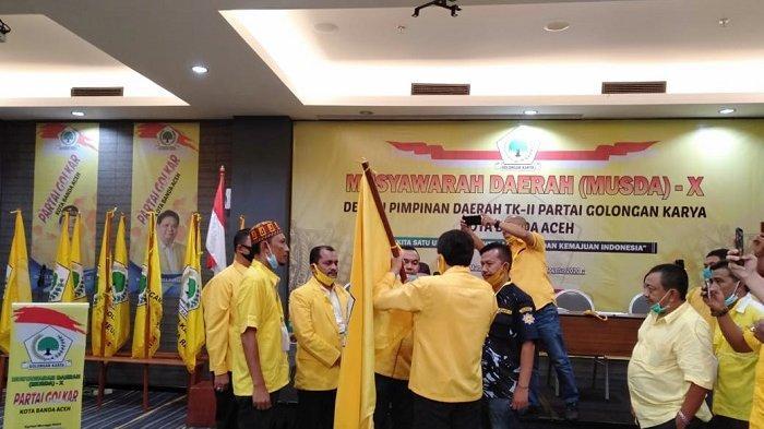 Musda Golkar Banda Aceh Tetapkan Sabri Badruddin Sebagai Ketua Terpilih