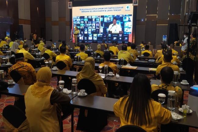 Semangati Kader Jateng, Airlangga: Masyarakat Sehat dan Sejahtera, Golkar Menang!