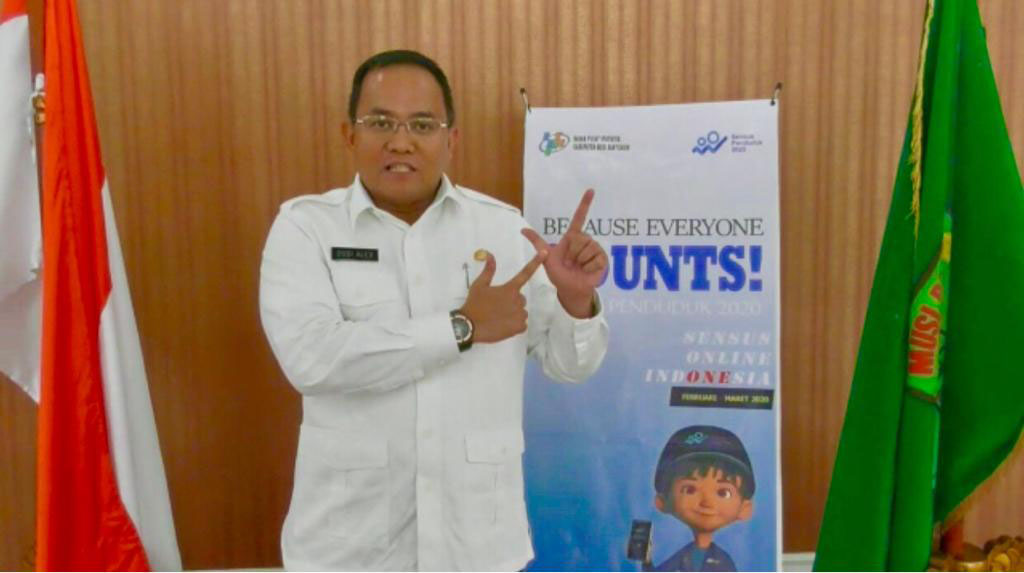 Bupati Dodi Reza, Penduduk Muba Pertama Update Online Sensus Penduduk 2020