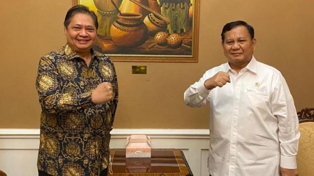 Airlangga Temui Prabowo dan Suharso Monoarfa, Meutya Hafid Sebut Silaturahmi Politik