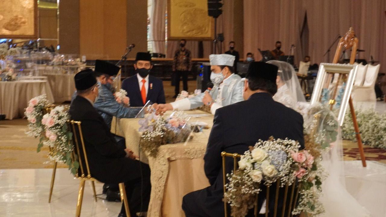 Presiden Jokowi dan Menko Airlangga Jadi Saksi Nikah Tania, Putri Dari Idris Laena