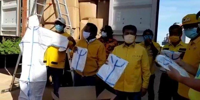 Lawan COVID-19, Golkar Kepri Datangkan 2 Kontainer APD dan Masker Dari China