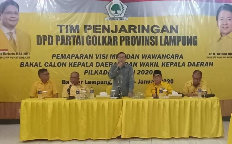 Akbar Tandjung Pacu Semangat Golkar Lampung Hadapi Pilkada 2020