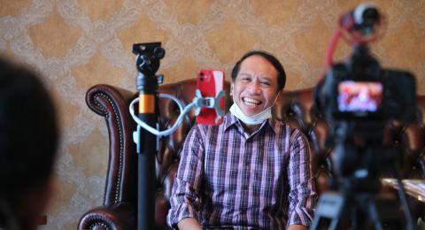 Hari Kartini, Ini Gaya Menpora Zainudin Amali Wawancarai Nurul Arifin dan Meutya Hafid