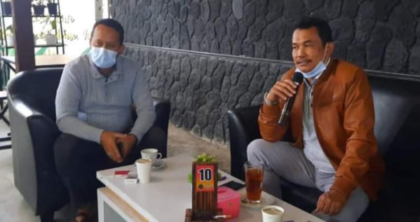 Sinergitas Pers dan DPRD, Ketua Fraksi Golkar Kota Batu Didik Machmud Silaturahmi Dengan Wartawan