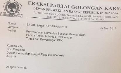 Terkait Hak Angket KPK, Ace Hasan Pastikan Fraksi Golkar Tinggalkan PDIP