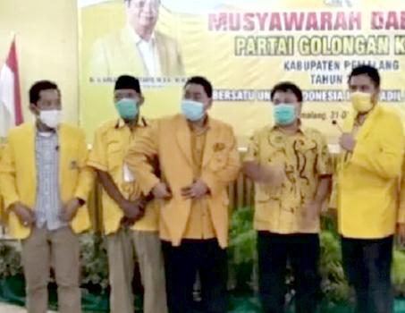 Gantikan Rois Faisal, Edi Susilo Terpilih Aklamasi Pimpin Golkar Pemalang