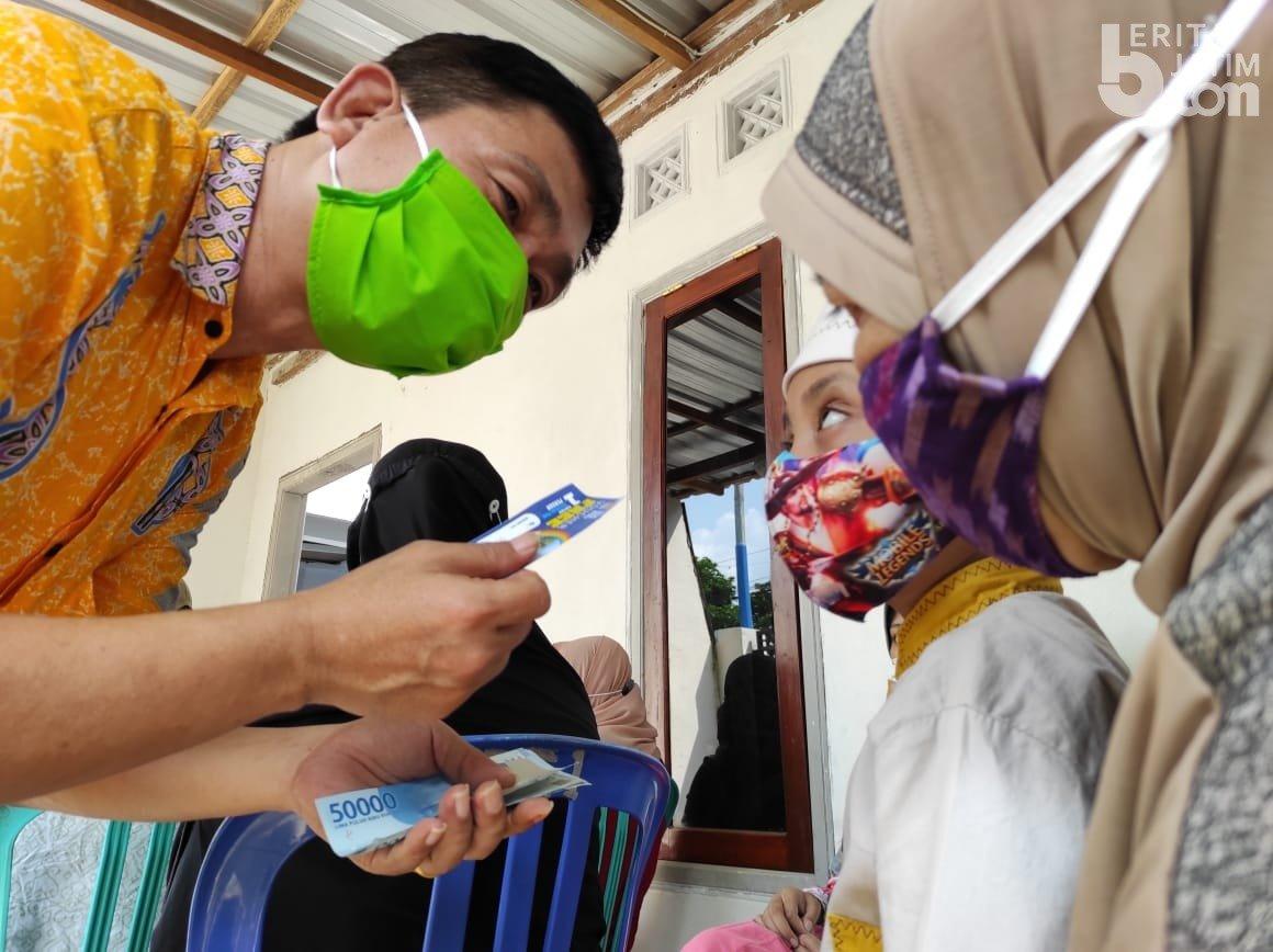 Ketua Golkar Kota Kediri, Sudjono Teguh Wijaya Blusukan Keliling Santuni Ratusan Anak Yatim
