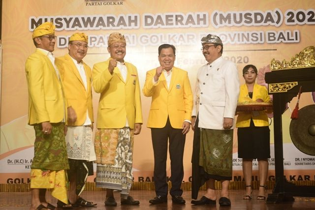 Susun Pengurus Golkar Bali, Sugawa Korry Prioritaskan Persatuan