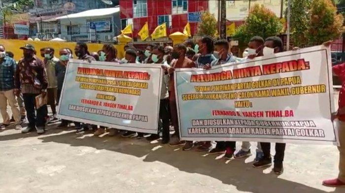 Geruduk Kantor Golkar Papua, Ini Tuntutan Keluarga Klemen Tinal