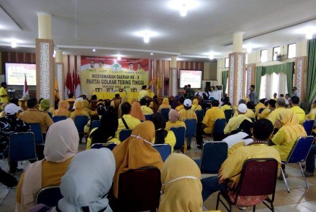 Basyaruddin Nasution Terpilih Kembali Pimpin Golkar Tebing Tinggi
