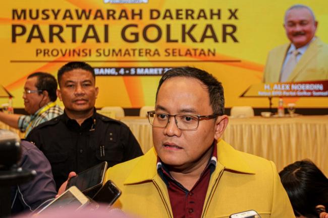 Meski Partai Tua, Dodi Reza Alex Siap Ramaikan Golkar Sumsel Dengan Kader Milenial
