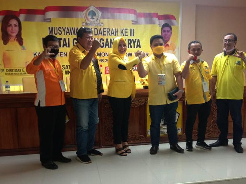 Terpilih Pimpin Golkar Boltim, Rolia Mamonto Kerahkan Kader Menangkan Tetty Paruntu-Sehan Landjar