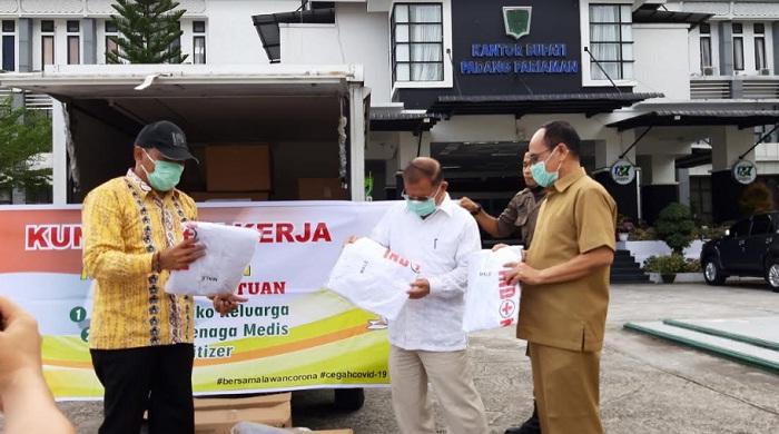 Bupati Ali Mukhni dan Wakil Walikota Mardison Mahyudin Apresiasi Ratusan APD dari John Kenedy Azis