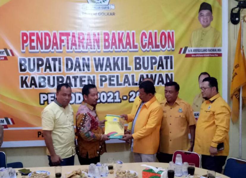 Golkar Pelalawan Resmi Sampaikan 5 Nama Balon Kada Ke DPD I Riau