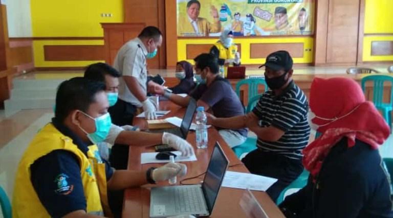 Golkar Provinsi Gorontalo Gelar Vaksinasi COVID-19 Untuk Warga Telaga Desa Luhu