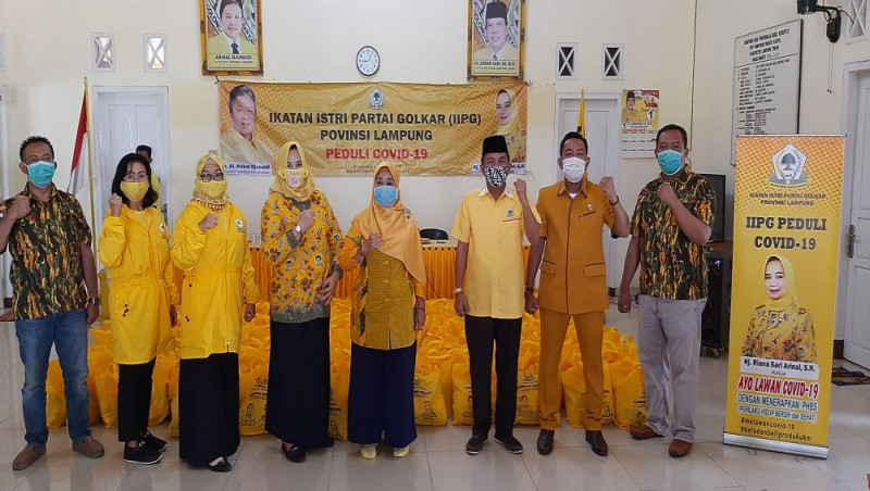 Peduli COVID-19, IIPG Lampung Bagikan 600 Paket Sembako di Lamtim